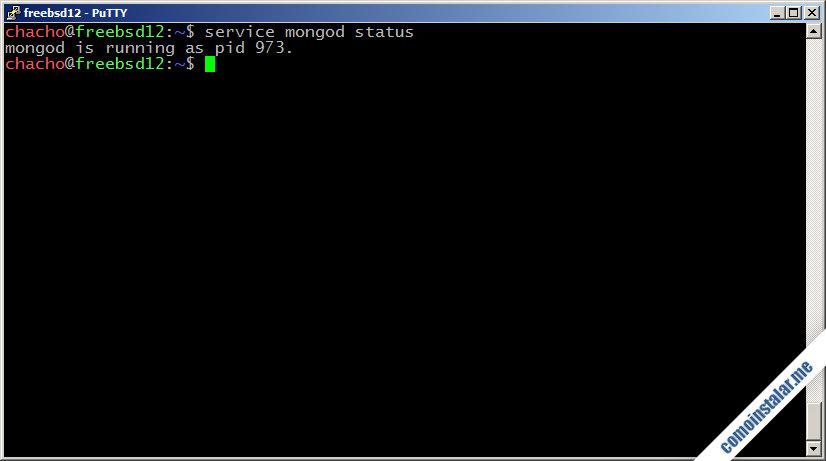 como instalar mongodb en freebsd 12