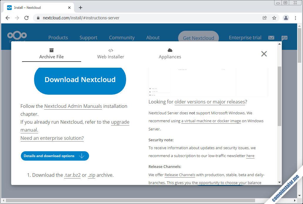 descargar nextcloud para ubuntu 20.04 lts focal fossa
