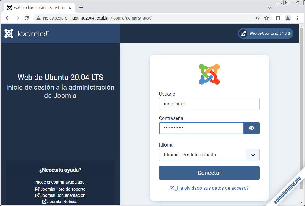 joomla para ubuntu 20.04 lts