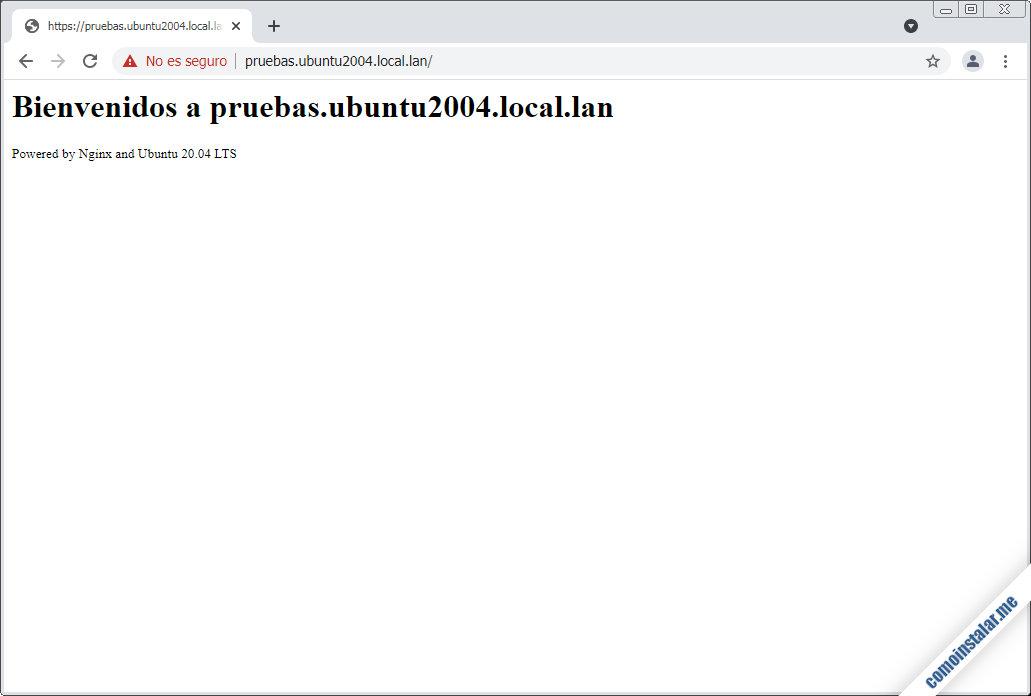 configurar nginx en ubuntu 20.04 lts focal fossa