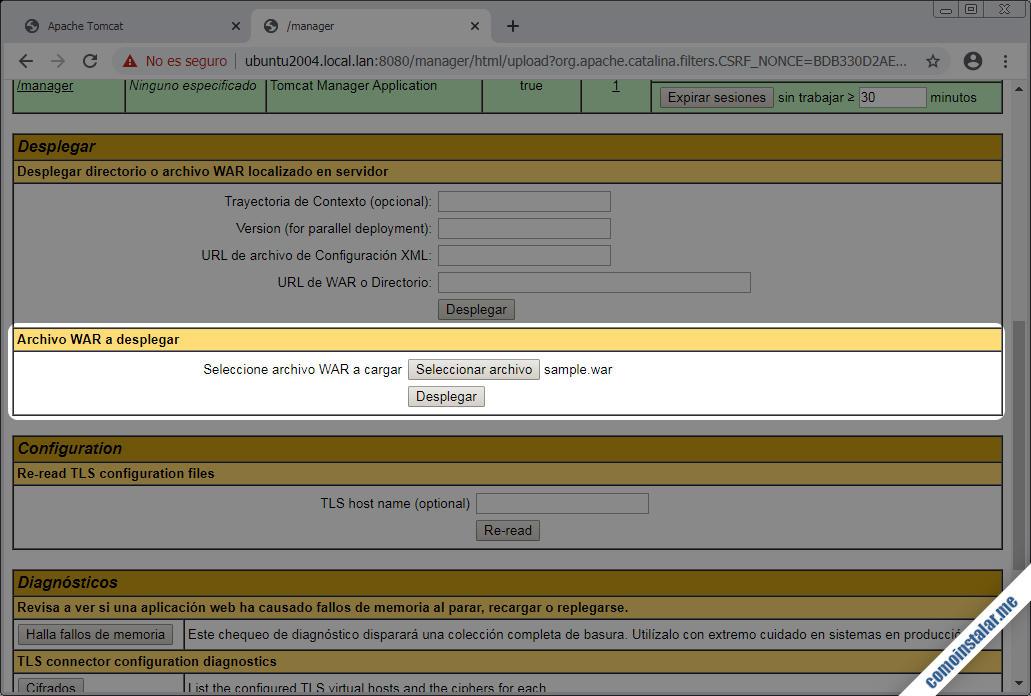 Tomcat 9 para Ubuntu 20.04 LTS Focal Fossa