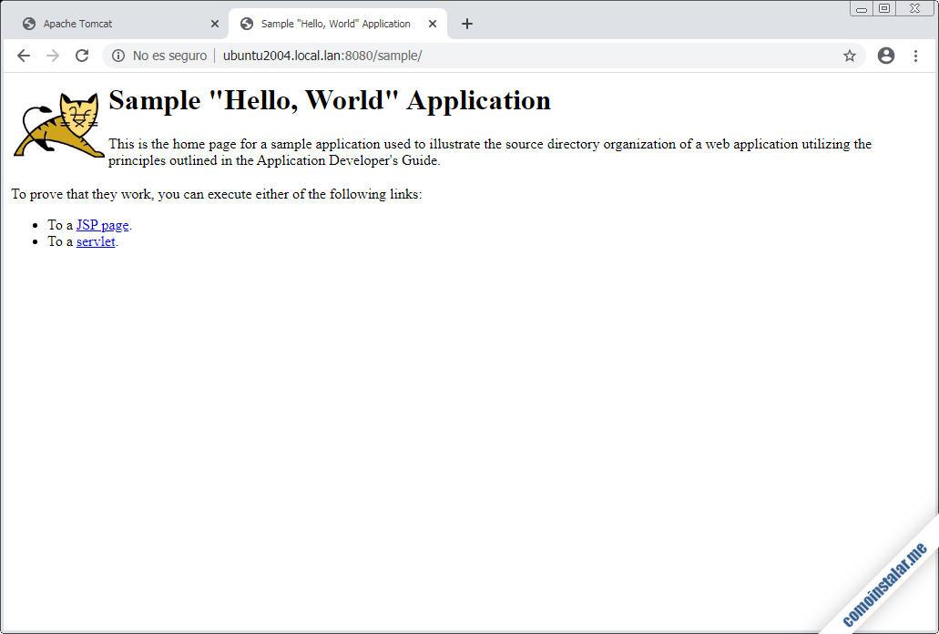 como desplegar aplicaciones en Tomcat 9 para Ubuntu 20.04 LTS