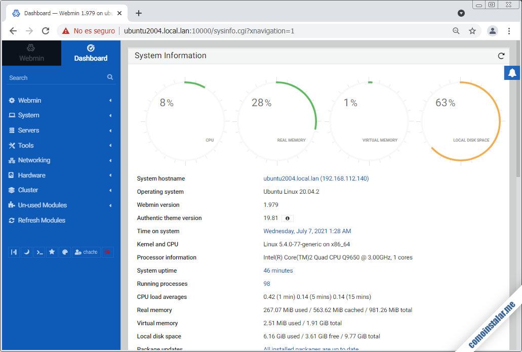 webmin en ubuntu 20.04 lts focal fossa