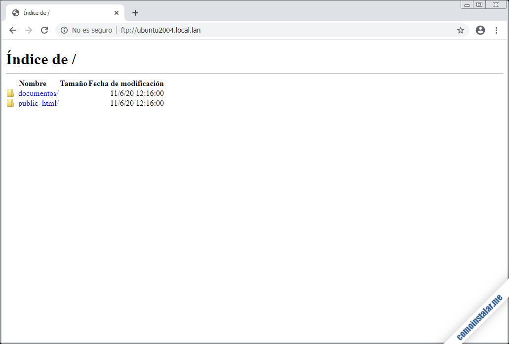 ftp en ubuntu 20.04 lts focal fossa