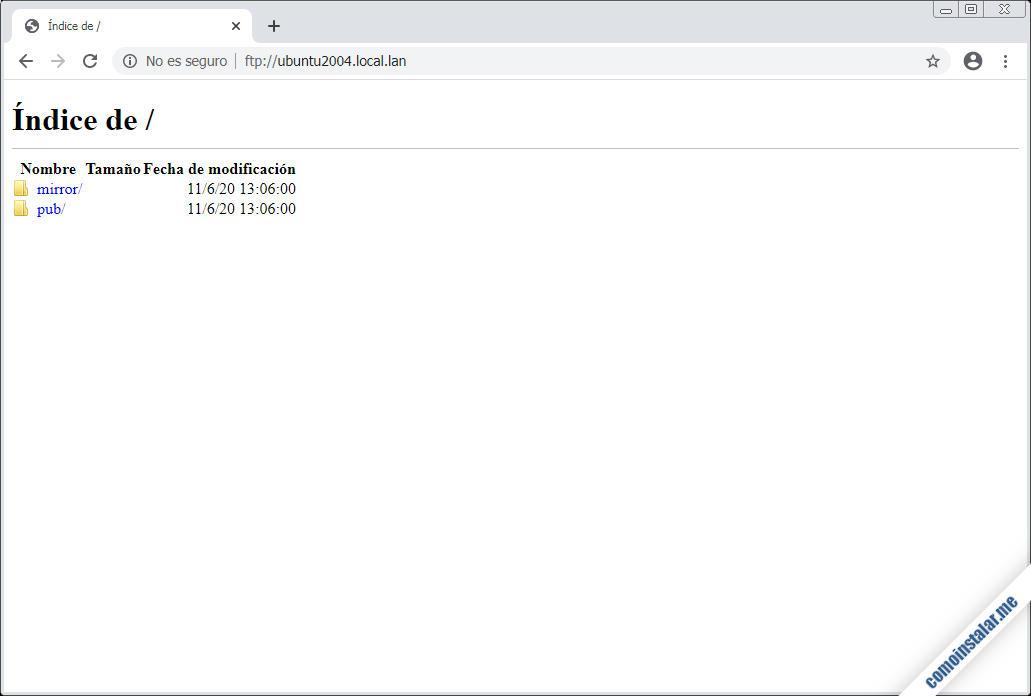 servidor ftp en ubuntu 20.04 lts focal fossa
