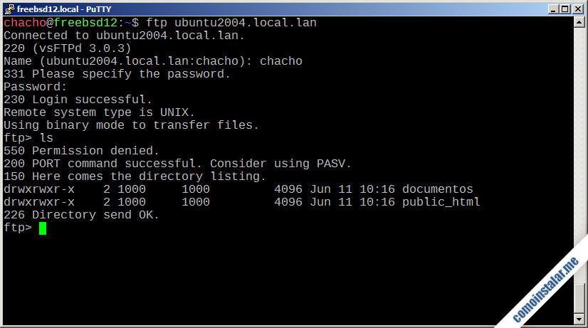 como instalar y configurar ftp en ubuntu 20.04 lts focal fossa