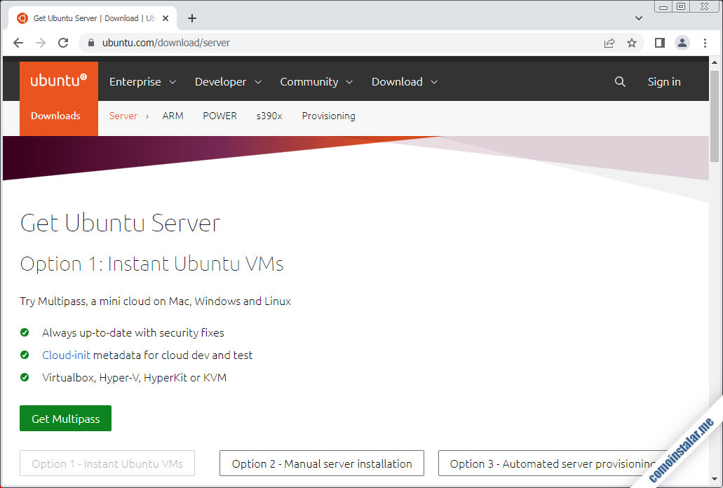 descargar ubuntu server 20.04 lts focal fossa para virtualbox