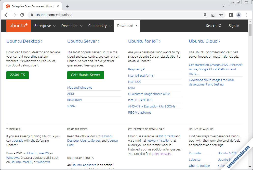 como descargar ubuntu server 20.04 lts focal fossa para virtualbox