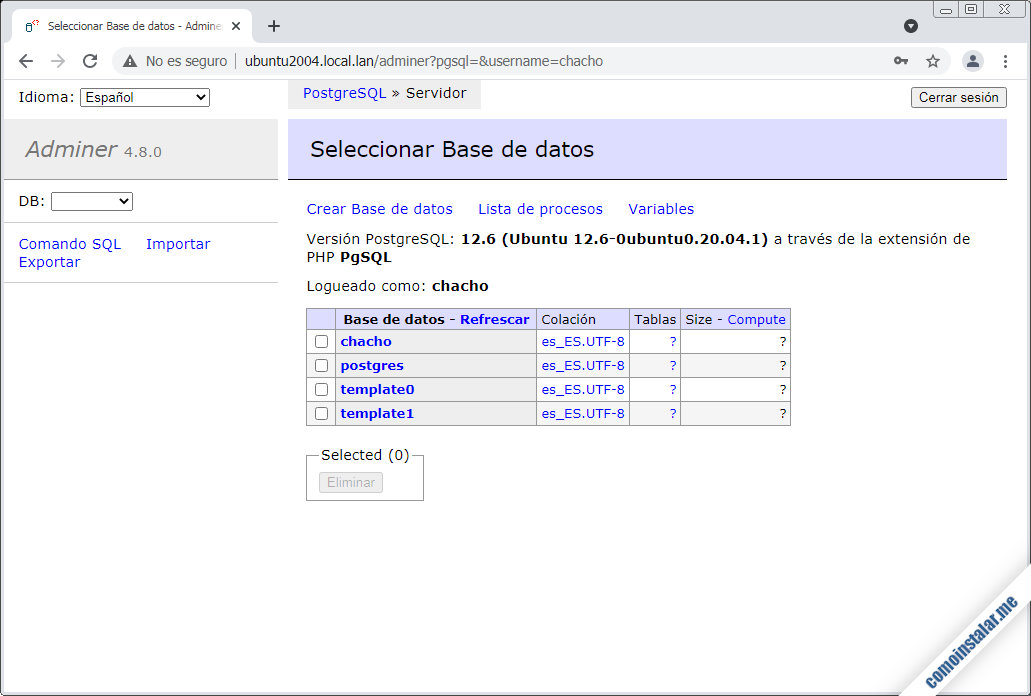 instalar adminer en ubuntu 20.04 lts focal fossa