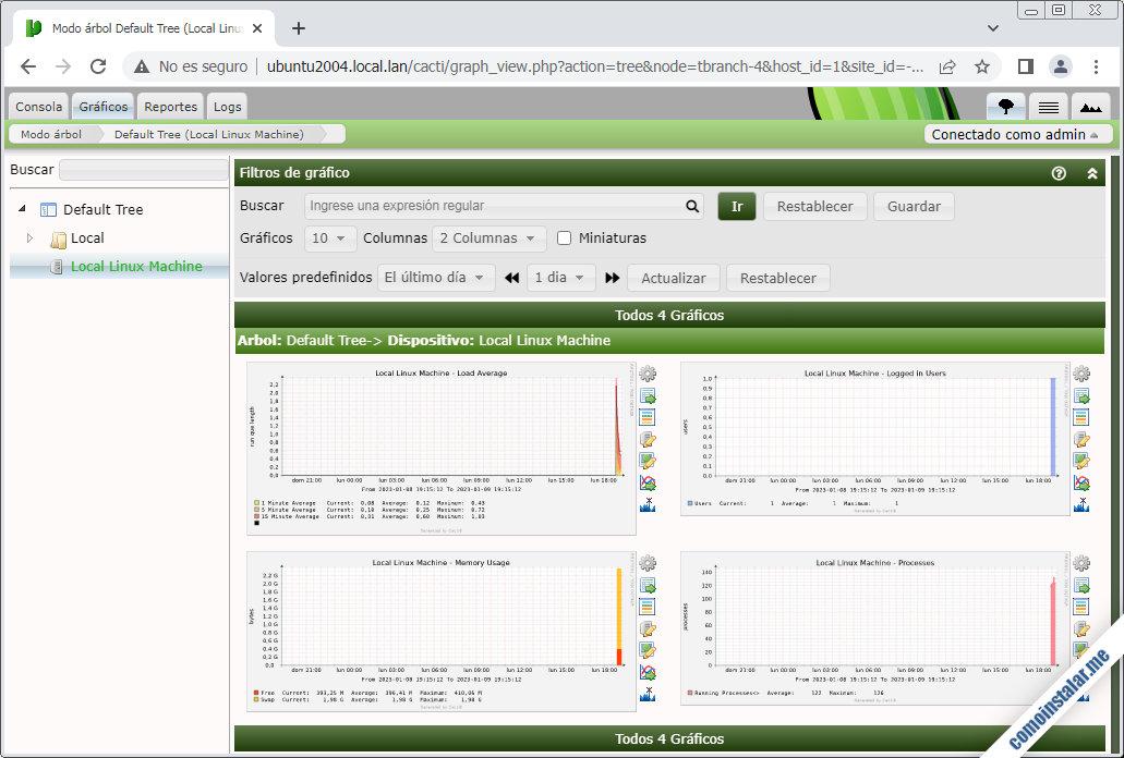 cacti para ubuntu 20.04 lts focal fossa