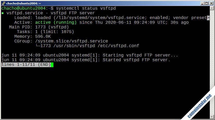 como instalar ftp en ubuntu 20.04 lts focal fossa