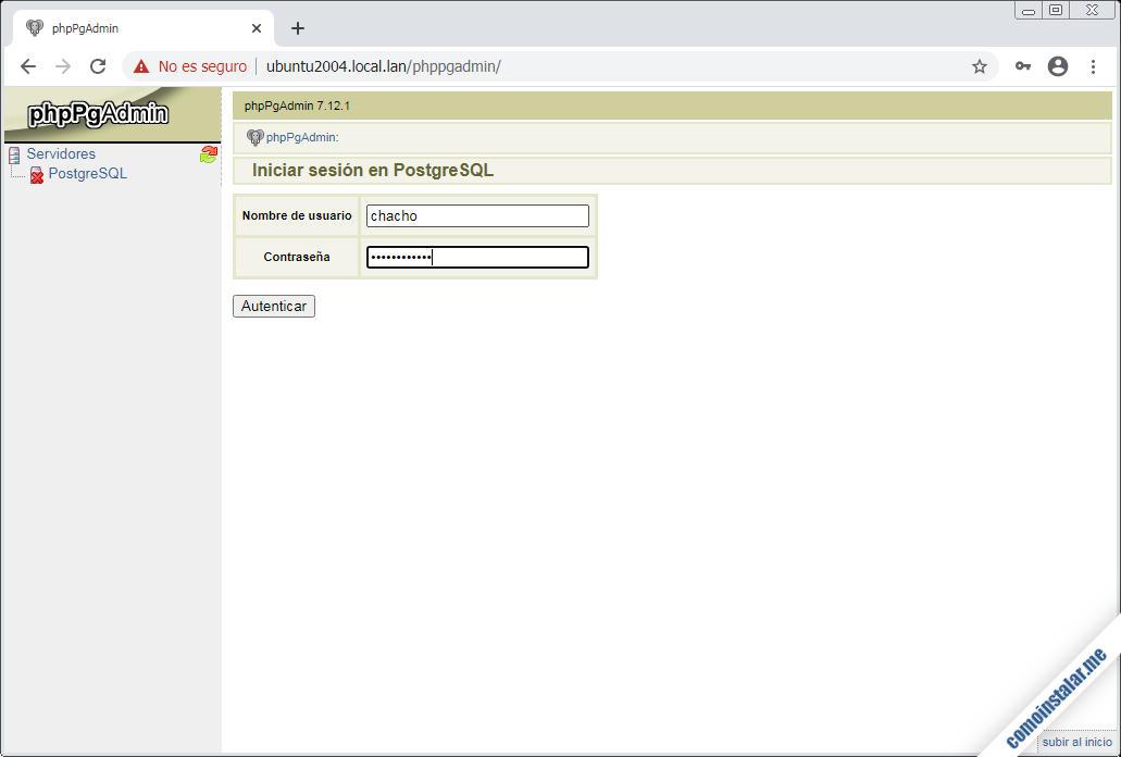 instalar y configurar phppgadmin en ubuntu 20.04 lts focal fossa