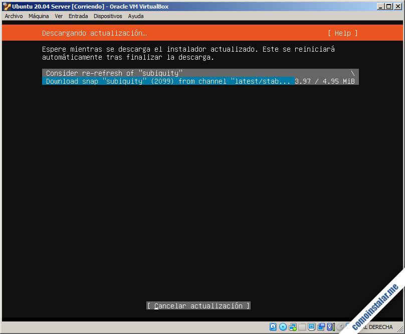 como instalar ubuntu server 20.04 en virtualbox
