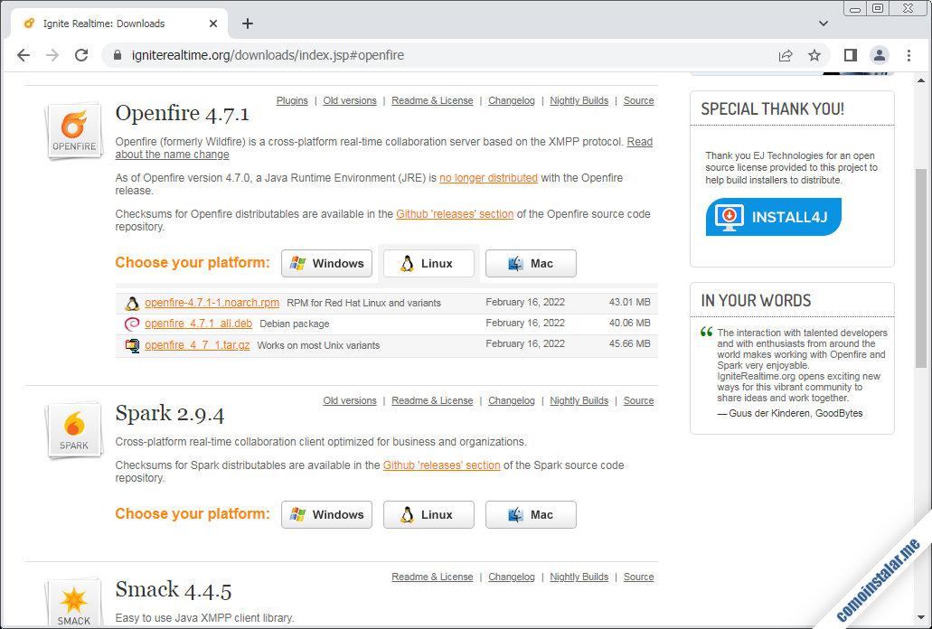 como descargar openfire en ubuntu 18.04 lts bionic beaver