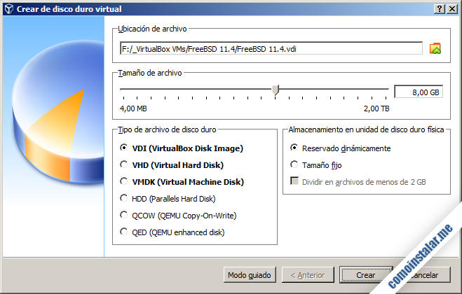 crear una maquina virtual de virtualbox para freebsd 11