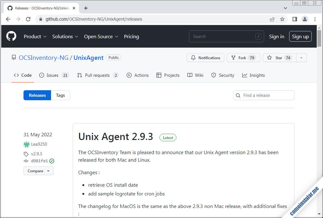 como descargar ocs inventory ng agent para ubuntu 20.04 lts focal fossa