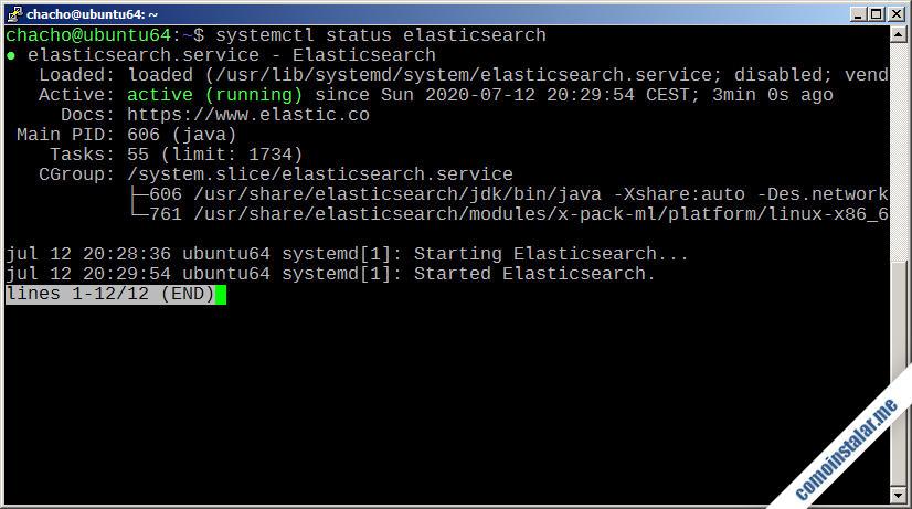 como instalar elasticsearch en ubuntu 18.04 lts bionic beaver