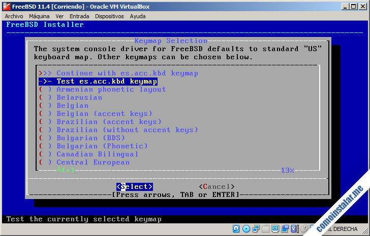 instalador de freebsd 11 para virtualbox