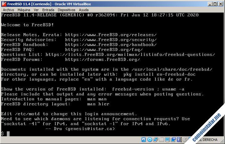 freebsd 11 sobre virtualbox
