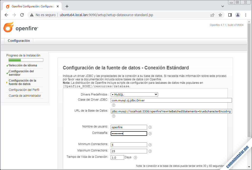 instalando openfire en ubuntu 18.04 lts bionic beaver