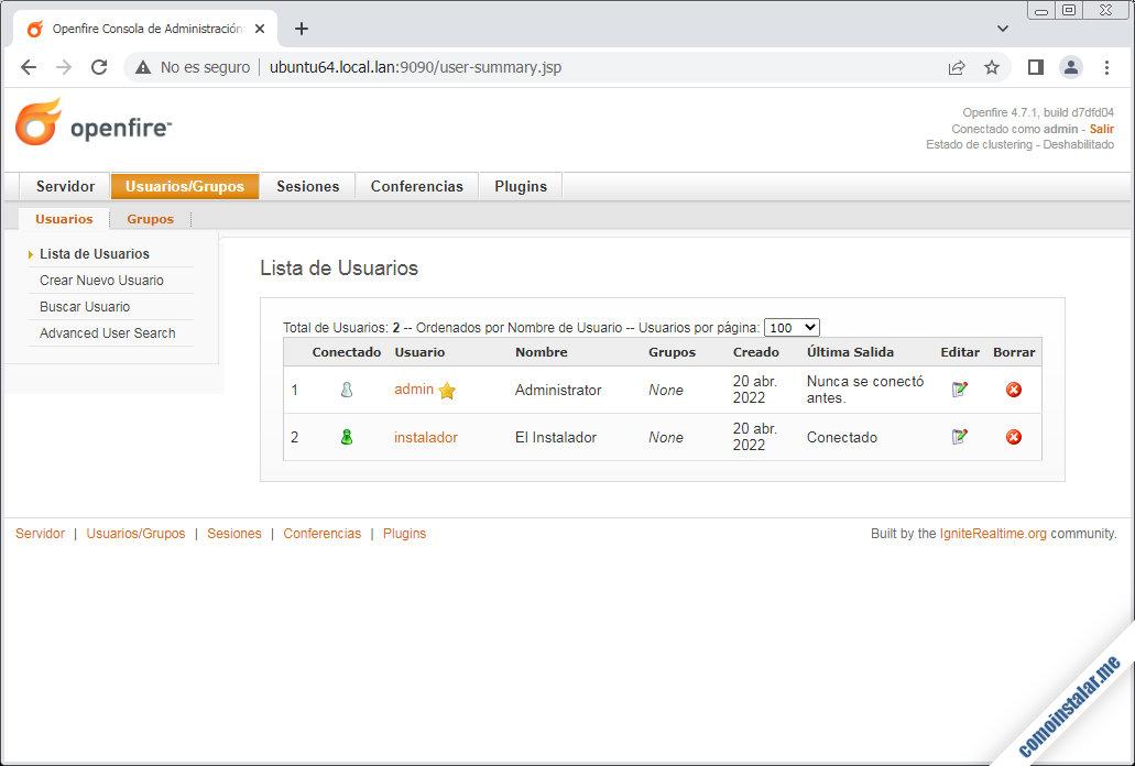 openfire para ubuntu 18.04 lts bionic beaver