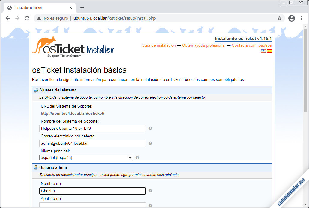 instalar osticket en ubuntu 18.04 lts bionic beaver