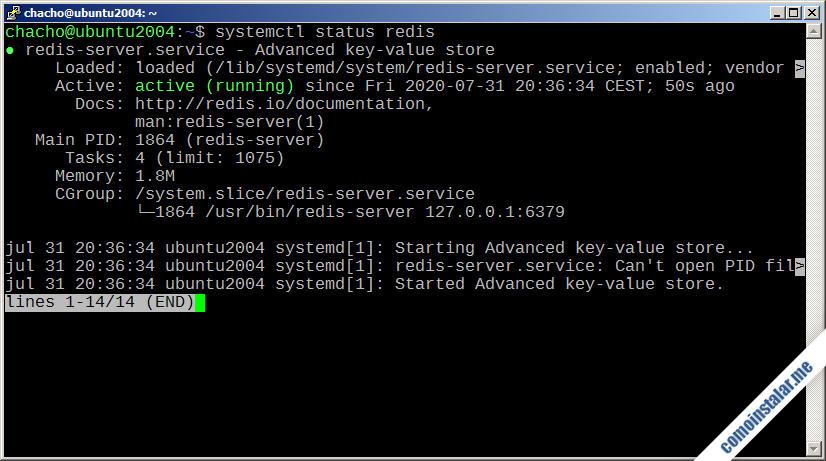 como instalar redis en ubuntu 20.04 lts focal fossa
