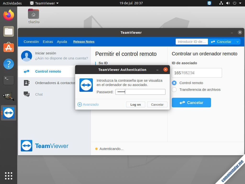 teamviewer en ubuntu 20.04 lts focal fossa