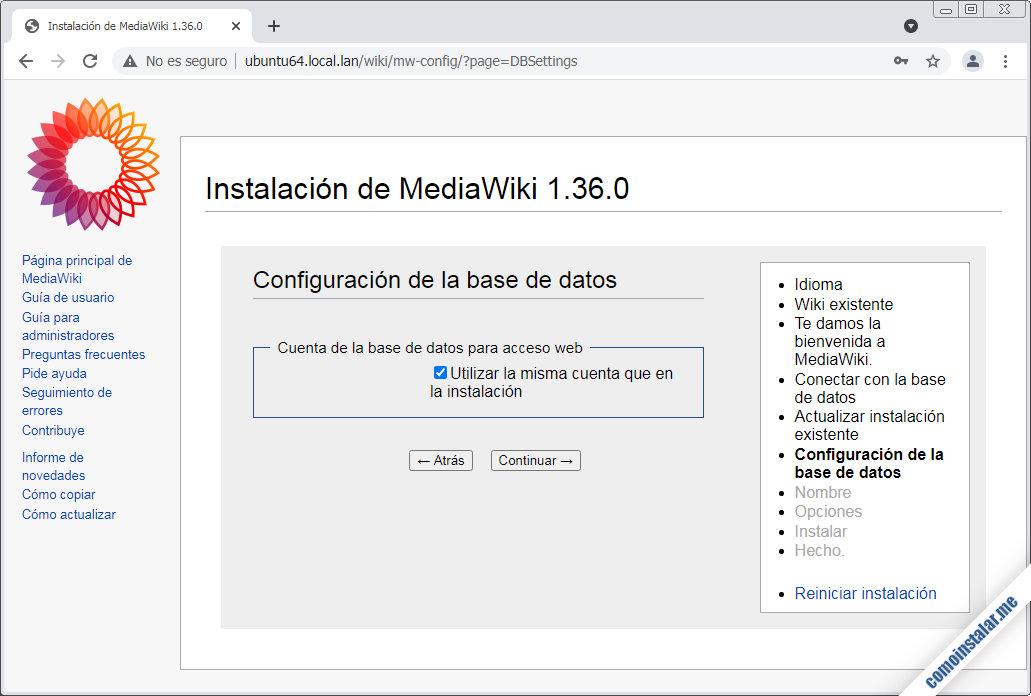 instalador de mediawiki para ubuntu 18.04 lts bionic beaver