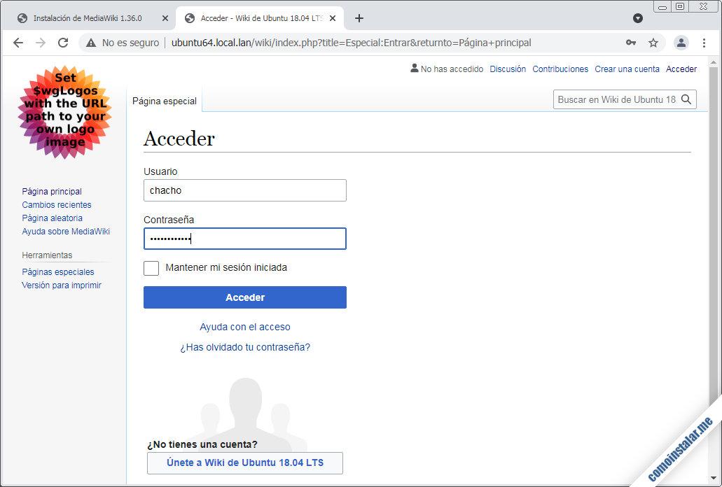 mediawiki para ubuntu 18.04 lts bionic beaver