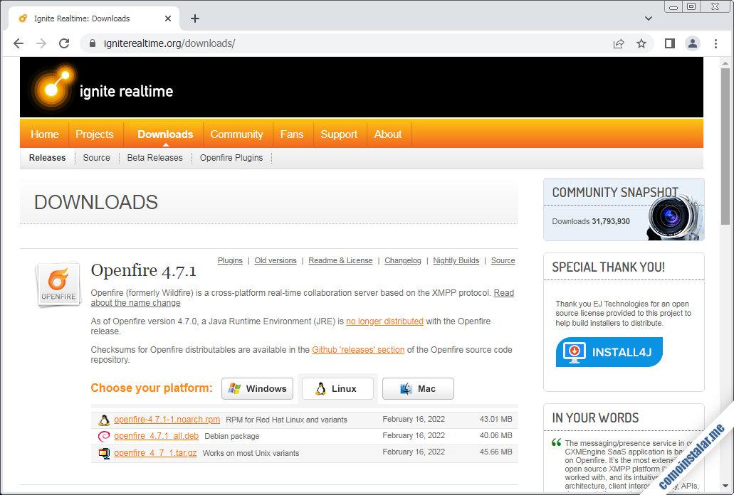 como descargar openfire para ubuntu 20.04 lts