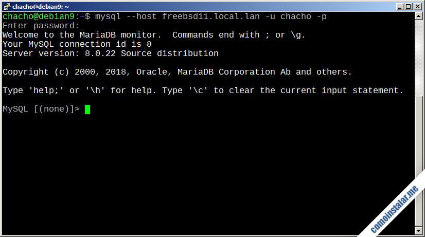 mysql server en freebsd 11