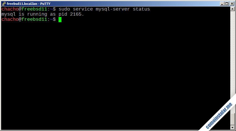 como instalar mysql en freebsd 11