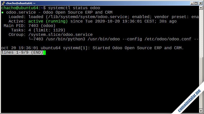 como instalar odoo en ubuntu 18.04 lts bionic beaver