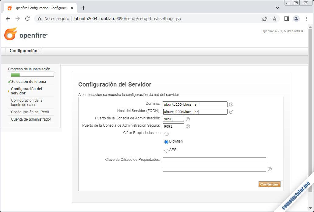instalador de openfire para ubuntu 20.04 lts