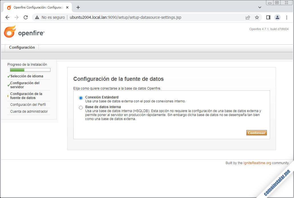 instalacion de openfire en ubuntu 20.04 lts