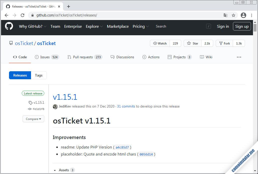 como descargar osticket para FreeBSD 12