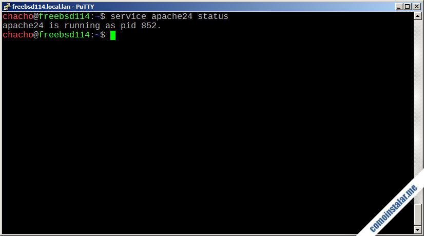 como instalar el servidor web apache en freebsd 11