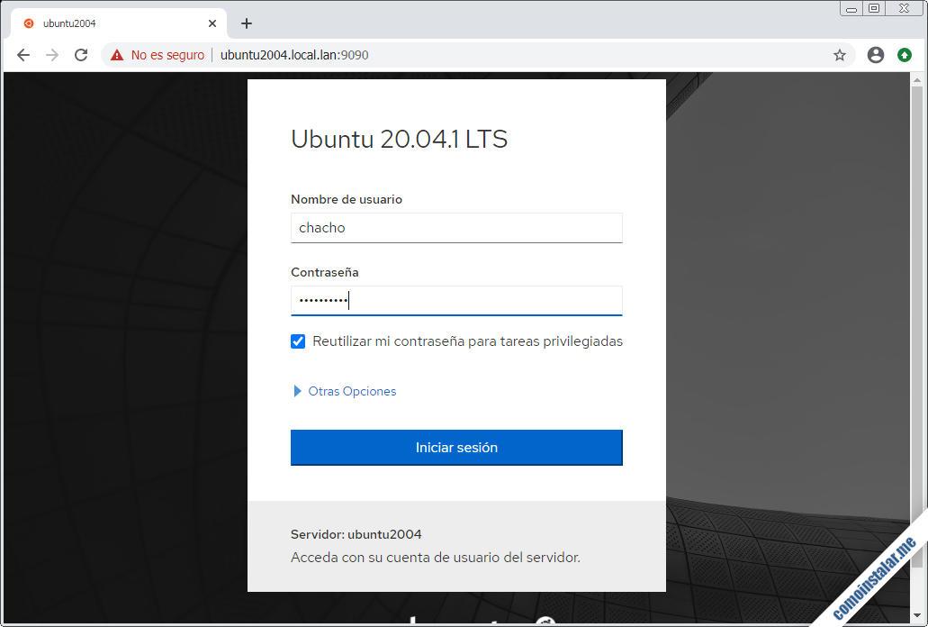 instalar cockpit en ubuntu 20.04 lts