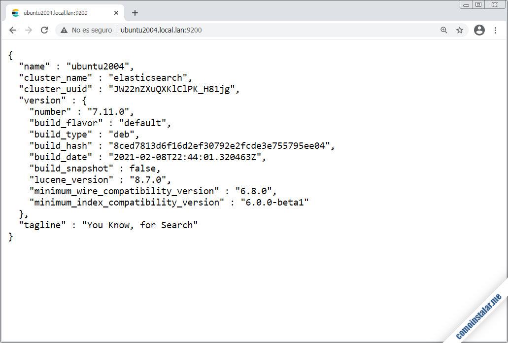 elasticsearch en ubuntu 20.04 lts