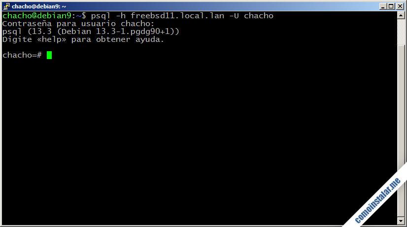instalar y configurar postgresql en freebsd 11