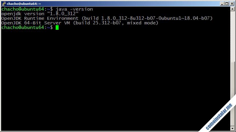 instalar java openjdk 8 en Ubuntu 18.04 lts bionic beaver