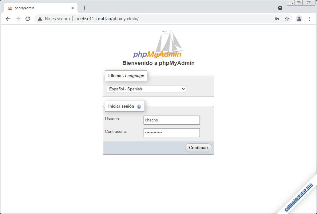 como instalar phpmyadmin en freebsd 11