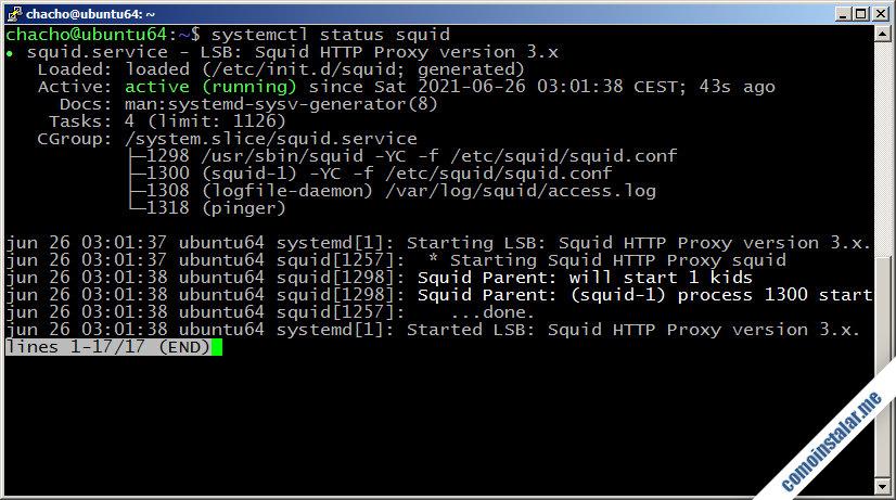 como instalar squid en ubuntu 18.04 lts bionic beaver