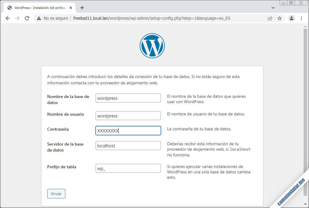 instalar wordpress en freebsd 11