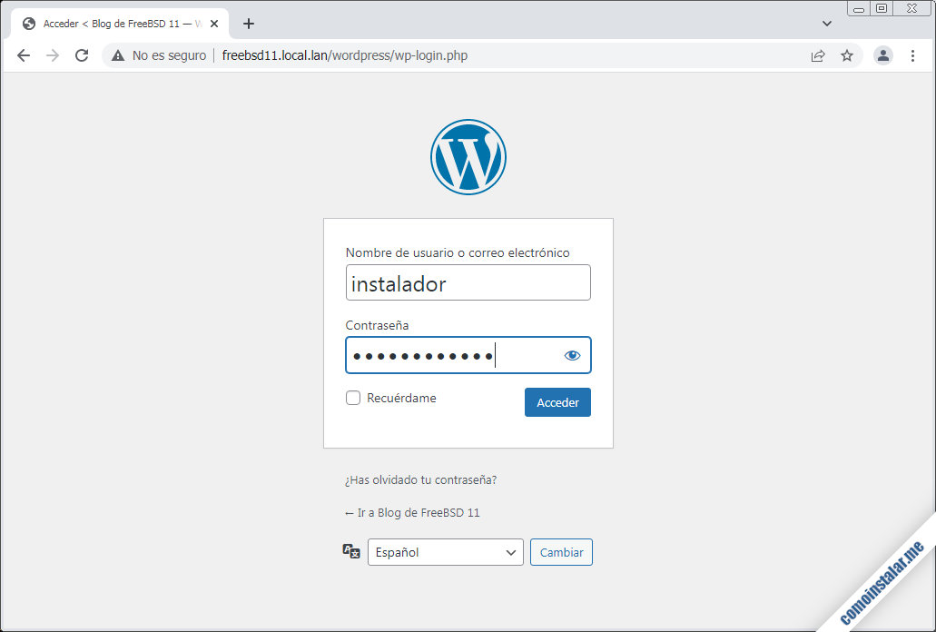 wordpress para freebsd 11
