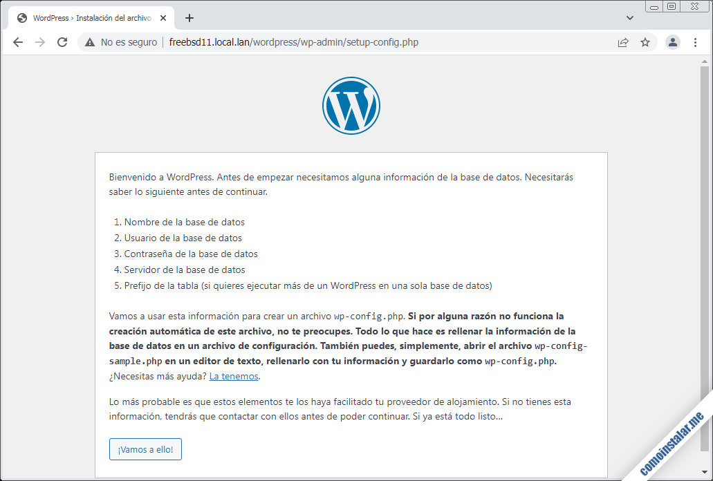 como instalar wordpress en freebsd 11