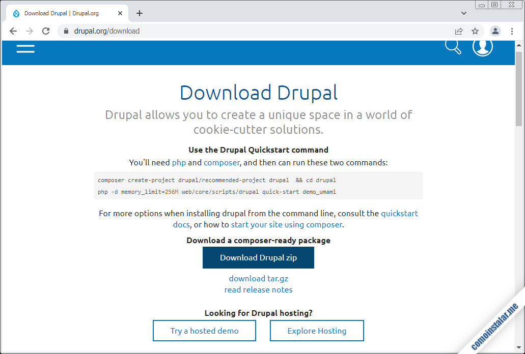 como descargar drupal para freebsd 11