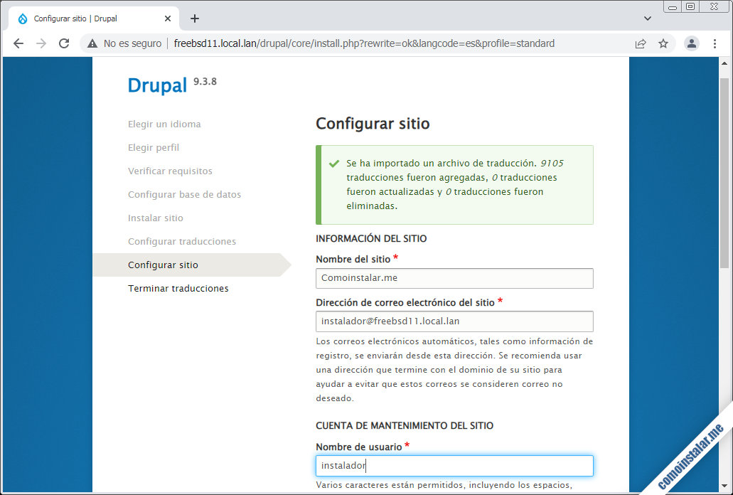 instalar drupal 9 en freebsd 11