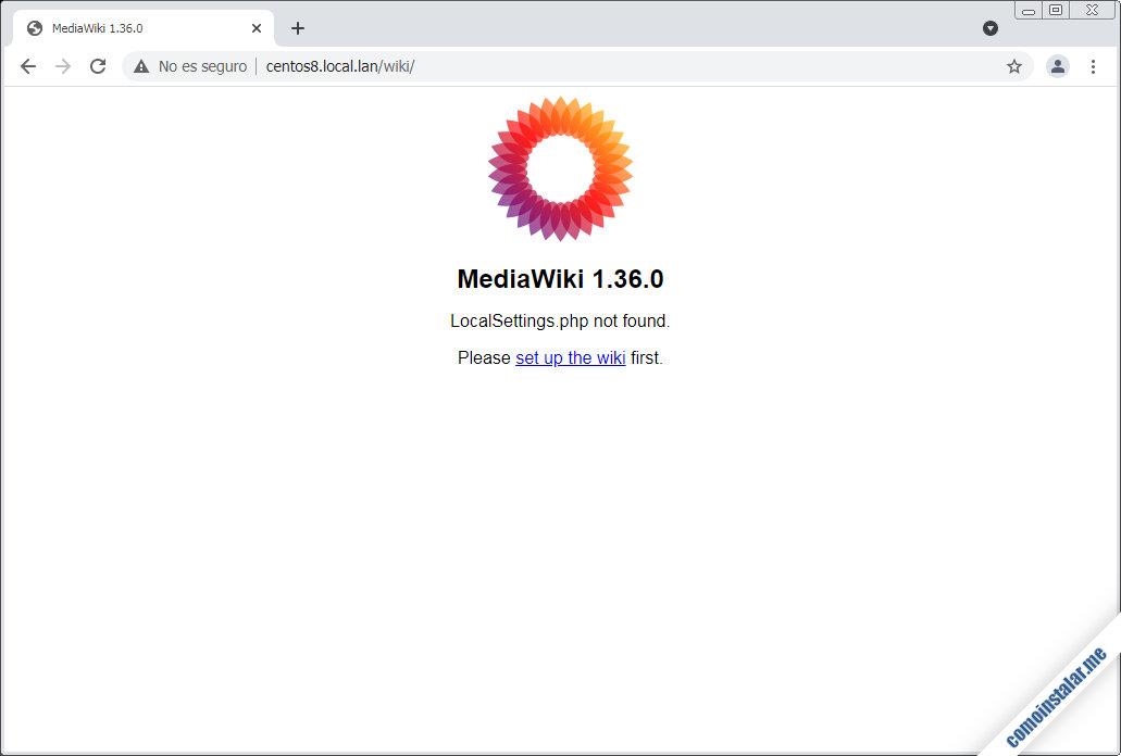 como instalar mediawiki en centos 8